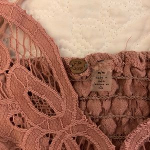 Free People Intimates & Sleepwear - Free People Blush Lace Bralette